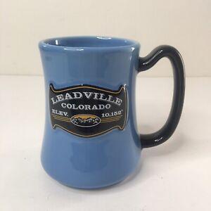 Leadville Colorado Coffee Tea Mug Cup Blue Elevation 10152 Heavy Duty NEW