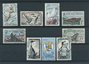 [332427] T.A.A.F 1956/63 marine life good set very fine USED stamps val $150