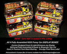 All 4 Custom Display Cases: AW SRS256 KISS 'Race to the Stage' Set Only Cars