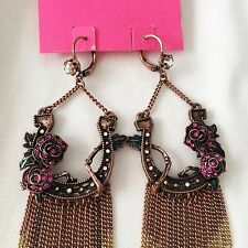Betsey Johnson 'Lady Luck' Horseshoe Earrings RARE/HTF