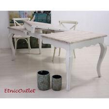 Tavolo Bianco Stile Provenzale.Tavoli Da Pranzo Shabby Chic In Legno Massello Di Allungabile