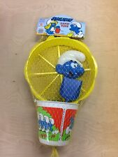 Vintage 1981 Smurf Yellow Sand Toys Bucket, Shovel , Tools. Mint In Factory Bag!