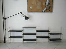 ANCIENNE ETAGERE MURALE STYLE STRING OU TOMADO/1950/MODULABLE/OLD TOLE SHELF/
