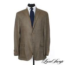 Polo Ralph Lauren Made in Italy Olive Herringbone 100% Flax Linen Jacket 44 L NR