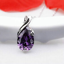 1pc Natural Amethyst Crystal GEMSTONE Stone Teardrop Pendant for Necklace Gift