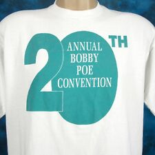 vintage 90s BOBBY POE MUSIC CONVENTION T-Shirt L/XL rockabilly rock country tour