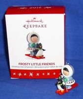 Hallmark Miniature Ornament Frosty Little Friends 2016 Eskimo Penguin Snow Ski