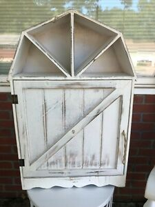 White Country Barn Cabinet