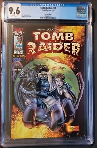 Tomb Raider #10 1/01 Red Foil Edition 9.6 White Pages CGC Graded Image/Top Cow