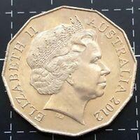 2012 AUSTRALIAN 50 CENT COIN