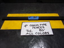 H.O. SCALE,COMMERICAL TYPE RAILINGS, BLACK   4' TALL,  80 SFt , 7 CT.