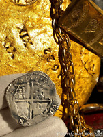 SPAIN 4 REALES DATED 1622 ATOCHA ERA PIRATE GOLD COINS SHIPWRECK TREASURE COB