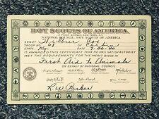 1940 Boy Scout Of America Certificate