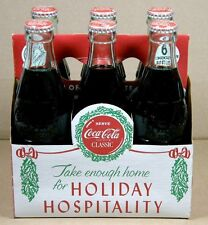 1989 COCA-COLA Xmas Edition 12/25/23 Long Island, NY 6 FULL BOTTLES + CARTON