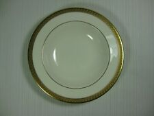 """Lenox Haverford Hall 8 1/8"""" Rimmed Soup Bowl Gold Ring Embossed Gold Band"""