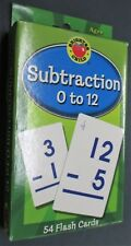NEW Flash Cards Subtraction 0 to 12 - 54 Cards Brighter Child Brand