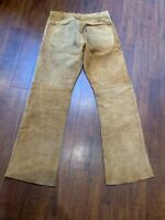 VINTAGE Made In Usa 60S Vintage Levi'S Big E Suede Boot Cut Leather Pants
