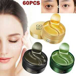 60pcs Collagen Eye Mask Anti Wrinkle Gel Sleep Gold Mask Under The Eye Patches