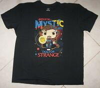NEW FUNKO POP MARVEL DR STRANGE Master Of The Mystic Arts T-SHIRT Black 2XL NWOT