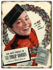 Best To You And Yours Philip Morris Cigarettes Tobacco Sign