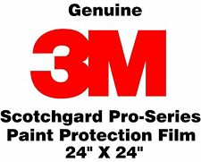 "Genuine 3M Scotchgard Pro Series Paint Protection Film Clear Bulk Roll 24"" x 24"""