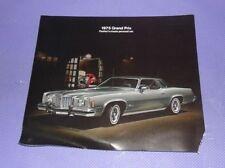 Vtg 1975 Pontiac Grand Prix Dealership Sales Color Brochure