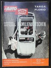 Auto Motor Sport 11/1962  .ua. Test Targa Florio / Rambler