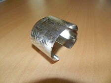 Stainless Steel Wide Adjustable Cuff Bangle Bracelet with Pattern #3