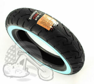 """Shinko 16"""" MT90-16 130/90-16 Front Wide White Wall Tire Harley Motorcycle WWW"""