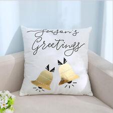 Christmas Pillow Case Gold Bronzing Cushion Cover Snowflake Sofa Xmas Decor DM
