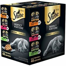 Sheba Perfect Portions Cuts In Gravy 48 Servings Variety Pack Chicken Bb: 01/21