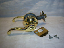 Schlace Interior Brass door handle, turn button lock