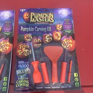 Halloween Master Pumpkin Carving Kit 10 Patterns + 5 Tools Sculpting Fruit Party