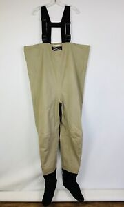 SIMMS Fishing Chest Waders L-King Stocking Foot Nylon Polyester Poly Neoprene