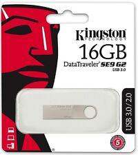 Kingston 16GB DataTraveler SE9 G2 16G USB 3.0 metal Pen Drive DTSE9G2/16GB Retai