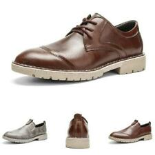 38-46 Mens Low Top Leisure Faux Leather Shoes Business Work Office Oxfords New L