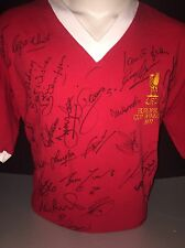 Signed Legends Home Shirt - Thompson Barnes Molby Hunt Beardsley Liverpool