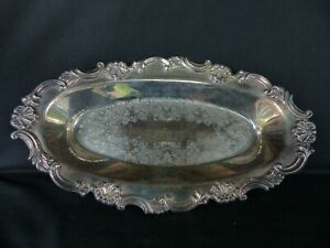 ornate oval silverplate serving dish sheffield reproduction 7539