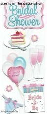 EK SUCCESS  JOLEE'S 3-D STICKERS  - MARRIAGE BALLOONS BRIDE 2 BE - BRIDAL SHOWER