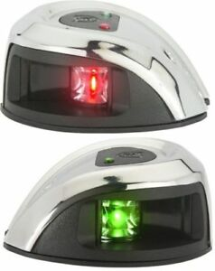 Attwood LIGHTARMOR 2NM LED Stainless Steel Bow Navigation  lights Pair NV1012SS