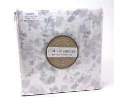 Cloth & Canopy Bedding Collection 100% Cotton Queen Sheet Set, Floral
