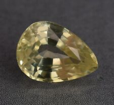 4.20 Ct Certified Natural Ceylon Yellow Sapphire Pear Cut Loose Gemstone