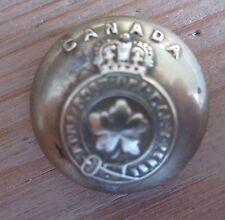 Brass Button 18mm - Canada honi soit qui mal y pense Queens Crown hanger missing