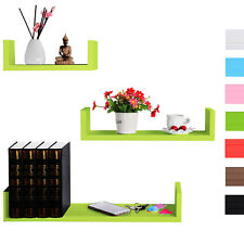 Wall Shelves Floating Wall Mounted Shelf MDF Cube Stoll Green URG9239hgn
