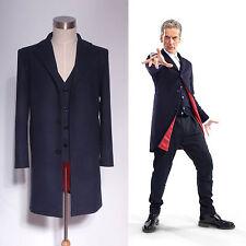Doctor Who 12th Dr. Dark Blue Frock Coat + Vest Set Costume <Custom Made>