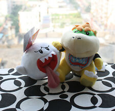 Nwt Super Mario Brothers bowser Koopa JR. & Boo Ghost Plush Doll Toys Set of -2X