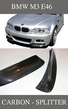 ★ FÜR BMW M3 E46 COUPE + CABRIO ★ CARBON SPLITTER FRONTSPLITTER CLUBSPORT-ECKEN