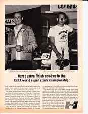 1967 ED MILLER / NHRA WORLD SUPER STOCK CHAMPIONSHIP ~ ORIGINAL HURST AD