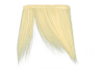 "CLIP-IN HUMAN HAIR FRINGE BANGS CYBERLOX #613 BLEACH BLONDE UNCUT 8"""
