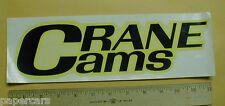 "1960s Crane Cams Vintage drag Racing Water Decal hot rad rod rare 12"" speed shop"